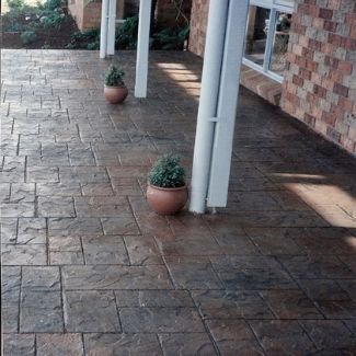 Stamped Impression Concrete Patio Outdoor