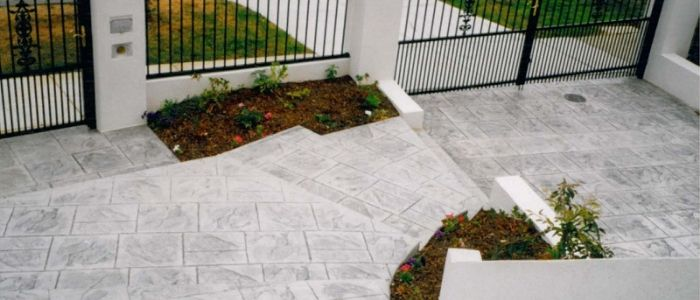 Stamped Impression Concrete Grey